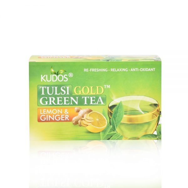 Tulsi Lemon & Ginger Green Tea - Best Fat Burning Formula (2g X 25tea Bag)