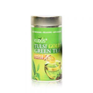 Tulsi Lemon & Ginger Green Tea - Best Fat Burning Formula